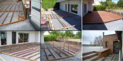 cadre de terrasse et support du cadre
