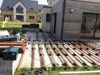 lambourdes et plots avant terrasse en ipe