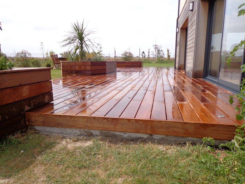 terrasse bois en ipé nettoyée 2