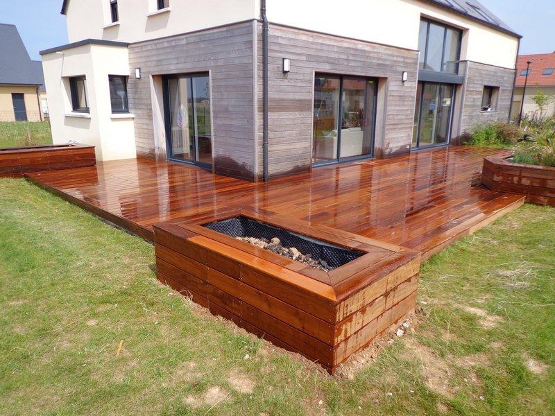 terrasse bois en ipe terminée