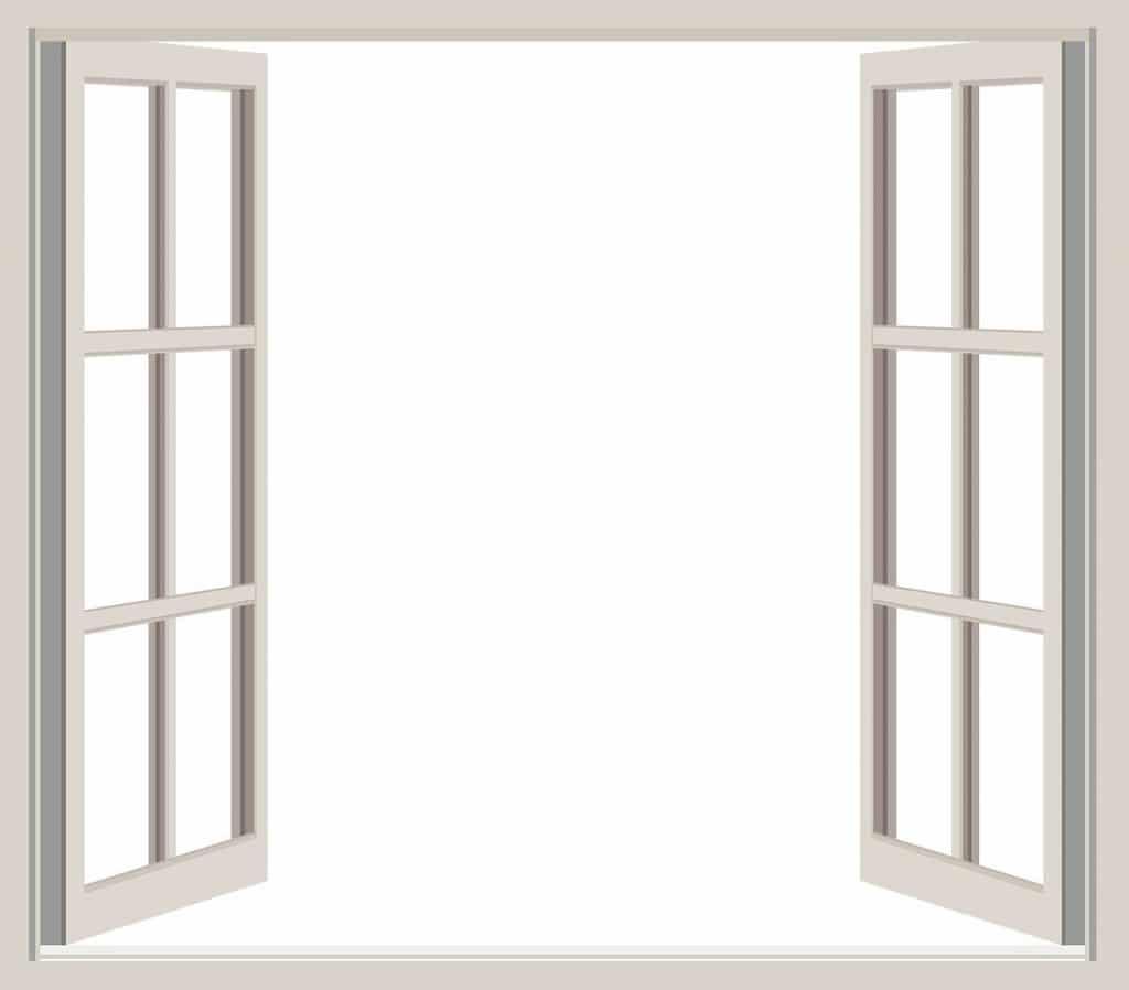fenêtre ouverte PVC