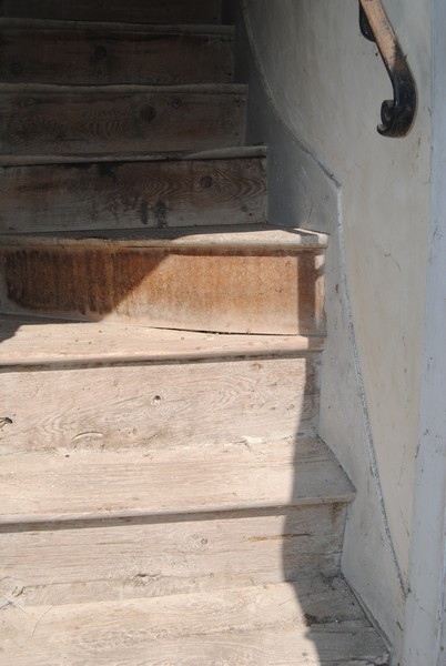 Escalier bois avant démontage et remplacement