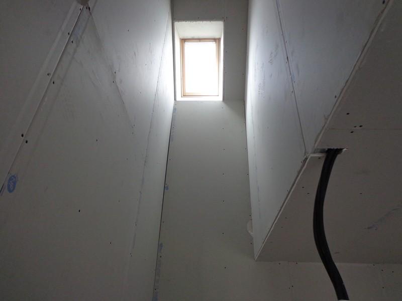 emplacement escalier après habillage placo