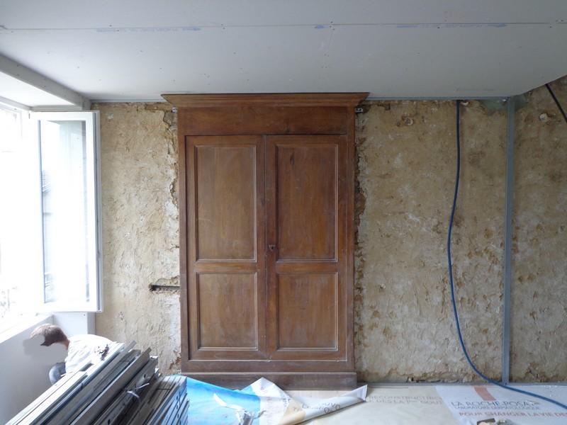 façade armoire avant démontage habillage placo