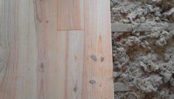 parquet pin des landes noueux cloué isolation laine soufflée