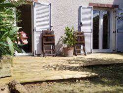 terrasse bois simple pas chère