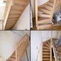 vues escalier hetre posé
