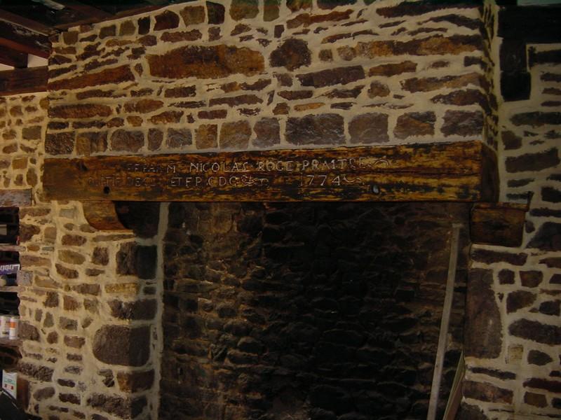 linteau brule ceruse cheminee