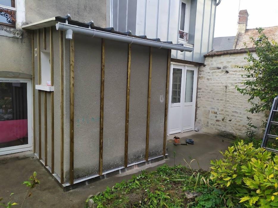 tasseaux fixés façade petite extension